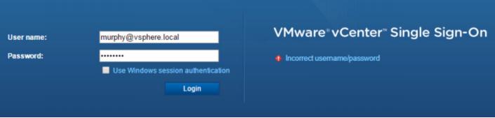Доступ к консоли vSphere Web Client
