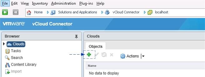 Панель управления облаками Clouds в vSphere Client