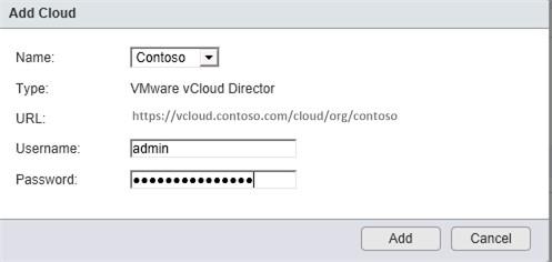 Подключение облака в vSphere Client