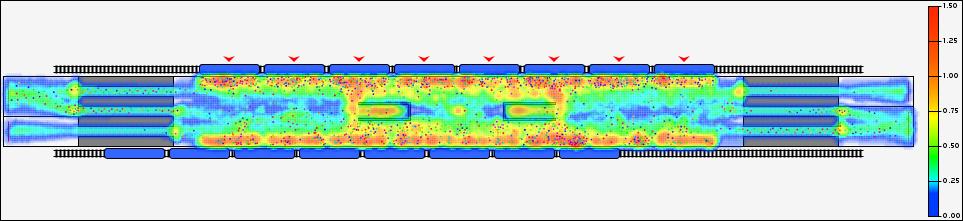 Пример карты пешеходной плотности