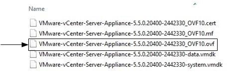 Содержимое архива vCenter Server Appliance