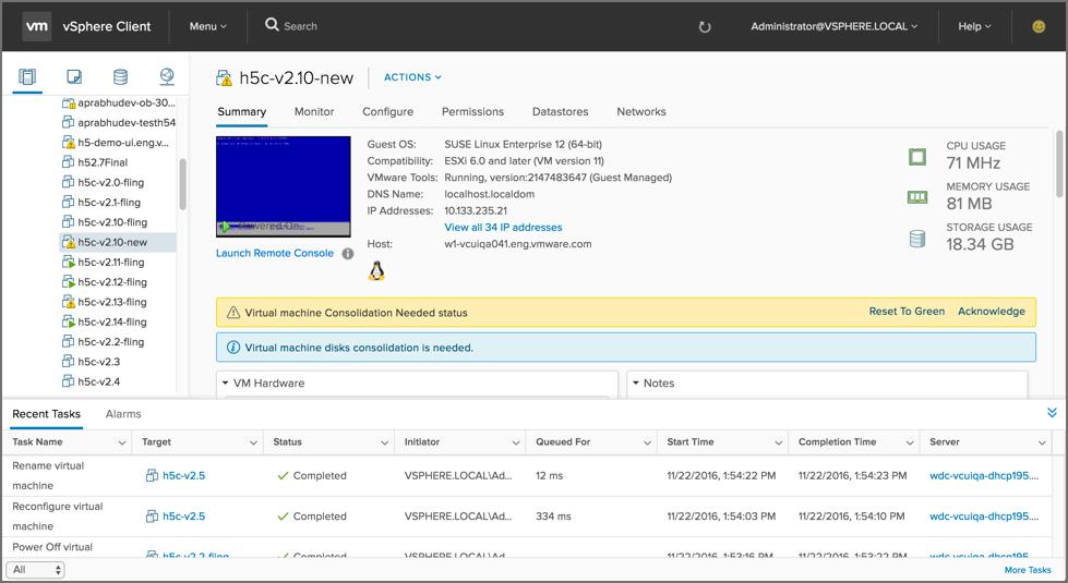Что нового в VMware vSphere Client 3.0